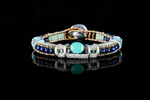 Ziio Jewellery Bracelet for Women, Pearl White, Murano Glass, 2017, One Size