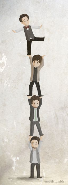Panic! at the Disco. Spencer, Ian, Dallon, and Brendon. Oh my goodness gracious, this is adorable.