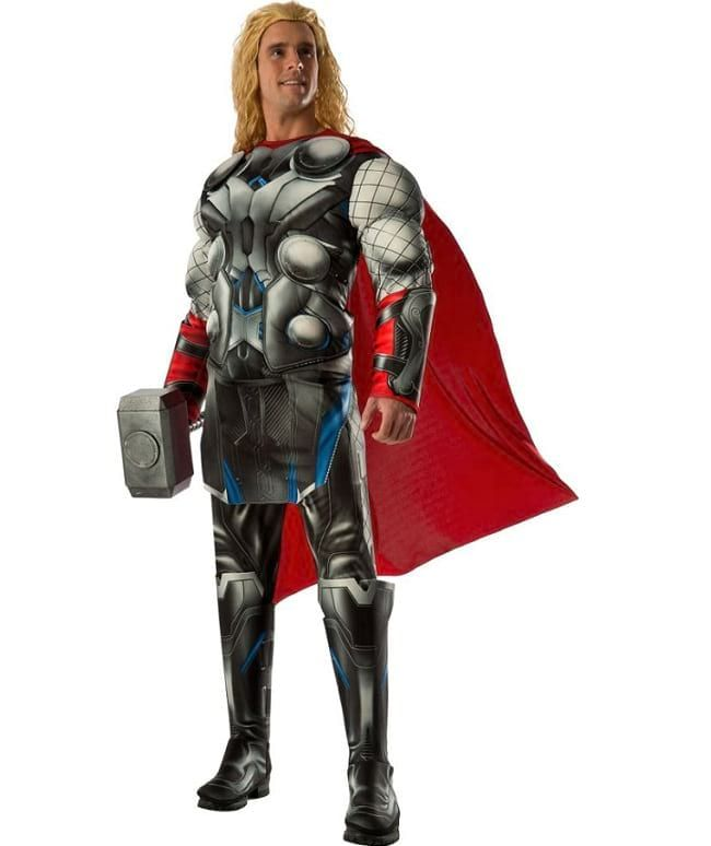 authentic Adult Deluxe Muscle Chest Thor Avenger Costume ...