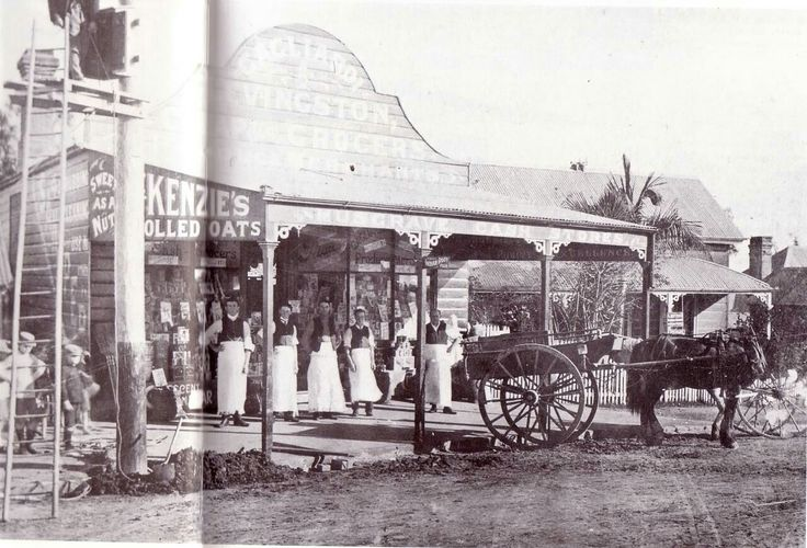 Gadliardi and Levingston's General Store in Red Hill,Queensland in 1912.