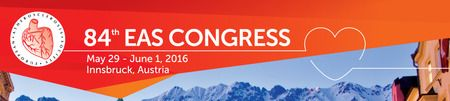 EAS 2016 at Congress und Messe Innsbruck GmbH(Rennweg 3, Innsbruck, 6020, Austria) on Sunday May 29, 2016 at 10:00 am (ends Wednesday June 01, 2016 at 5:00 pm).The 84th EAS Congress will be held in Innsbruck, Austria, from May 29th to June 1st, 2016, hosted by the European Atherosclerosis Society (EAS) and the Austrian Atherosclerosis Society (AAS).Prices: EUR 150 - EUR 500. CategoryConferences | Science, Health & Medicine | CME (Continuing Medical Education). Ticketshttp://atnd.it/24080-0