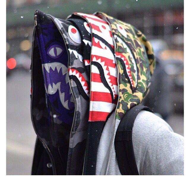 Bape shark hoodies
