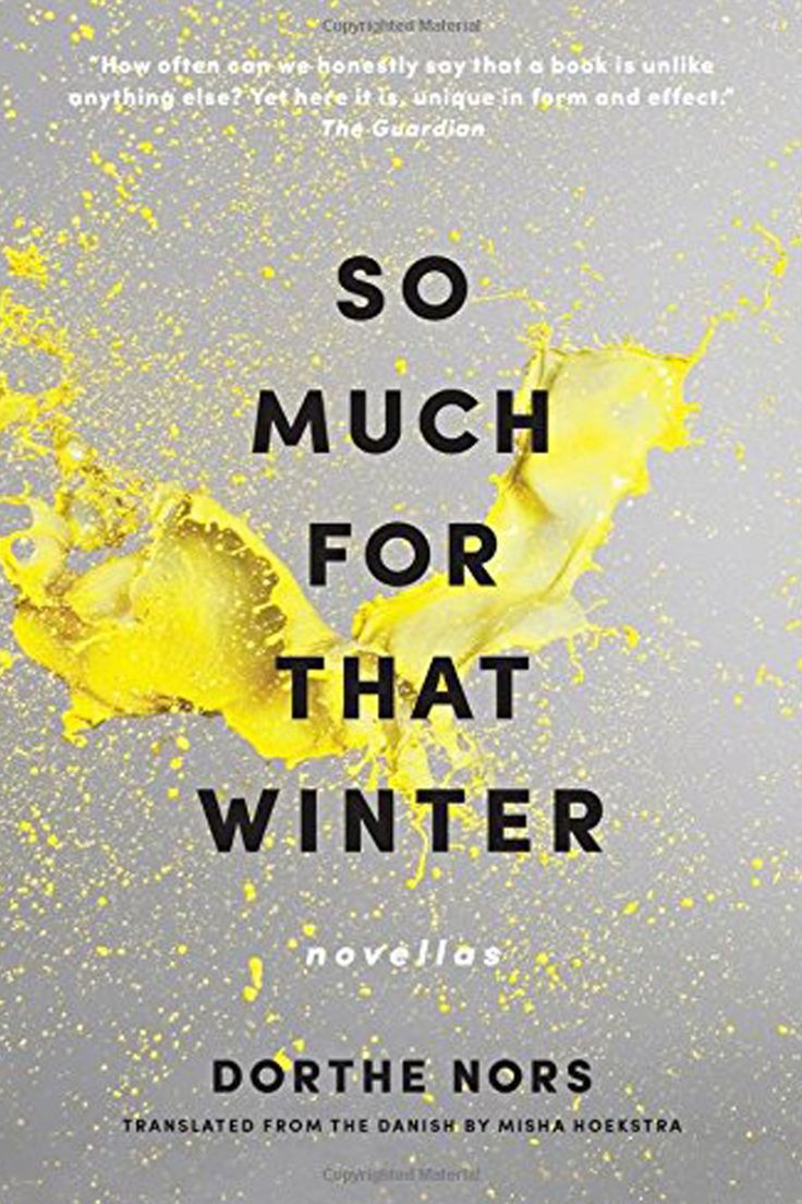 'So Much for That Winter' by Dorthe Nors