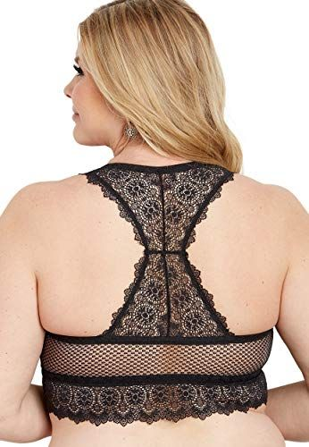 3800c9aafa6 maurices Women s Plus Size Knit Lace and Mesh Racerback Bralette ...