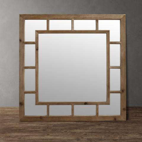Nantucket Rustic Mirror - Beautiful & Rustic 100cm x 100cm Mirror $199 - http://www.shopspecnet.com.au/furniture/kfh-10041-nantucket-mirror/pid/63/32 #mirror #wallmirror #design