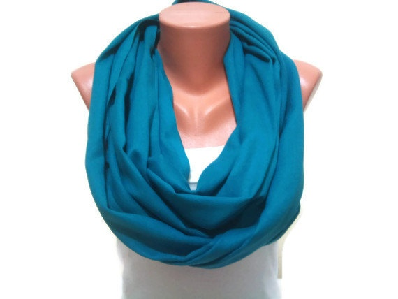 Turquoise infinity scarf TrendyScarf Dark Turquoise by TrendyScarf, $12.99
