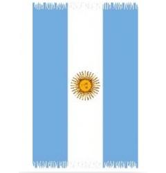 PAREO ARGENTINE  Paréo représentant le drapeau argentin. 100% viscose Fabriqué en Indonésie. Conçu au Brésil. Longueur 1,75m Largeur 1,18 m http://www.viva-playa.fr/pareo-argentine-p-1027.html