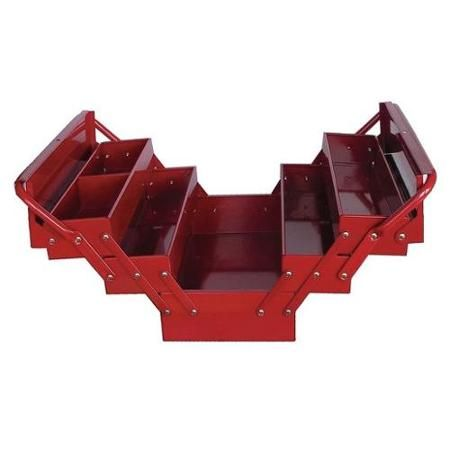 Westward 10J171 Red Steel Portable Tool Box