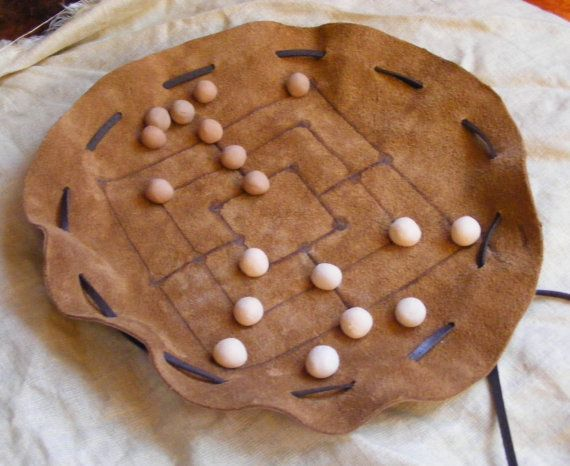 Nine Men's Morris also The Mill Game by Vlodarius on Etsy, $19.00