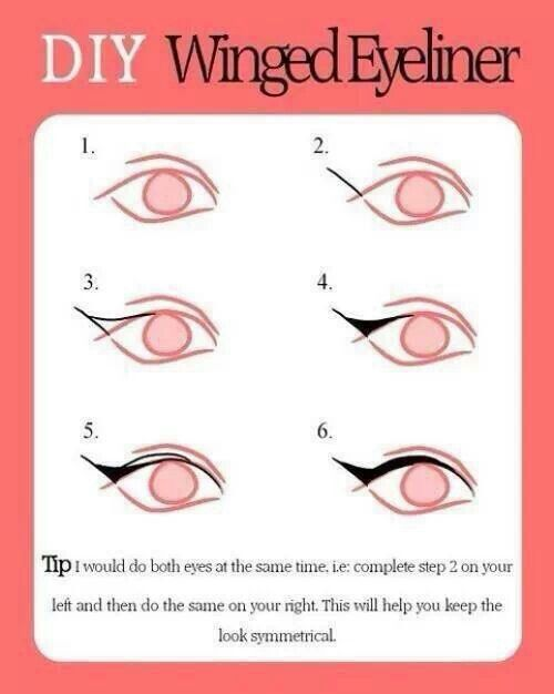 Winged eyeliner how to
