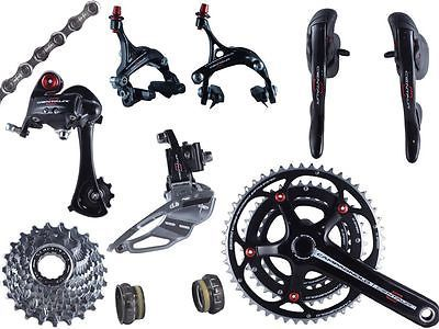 Build Kits and Gruppos 109120: 2014 Campagnolo Centaur Black And Red Triple Power Torque Group Set 9 Pcs New BUY IT NOW ONLY: $829.0