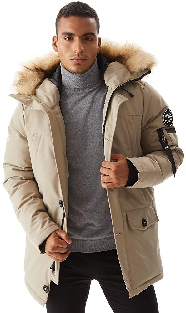 Men Molemsx Mens Down Alternative Jacket Mountain Thicken Lined Fur Hooded  Long Anorak Parka Padded Coat XS-3XL Clothing, Shoes & Jewelry samel.com.br