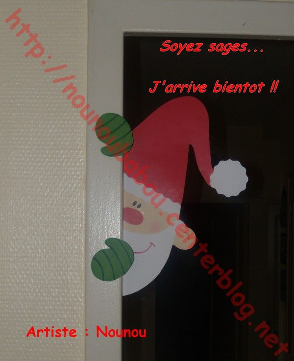 D coration porte noel maternelle for Decoration noel porte