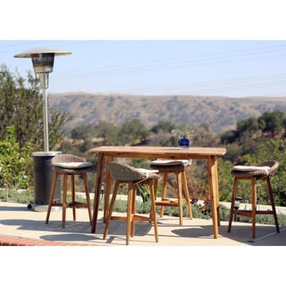 wicker elegant inside sets pertaining with costco height to stools amazing dining table outdoor set patio interesting bar