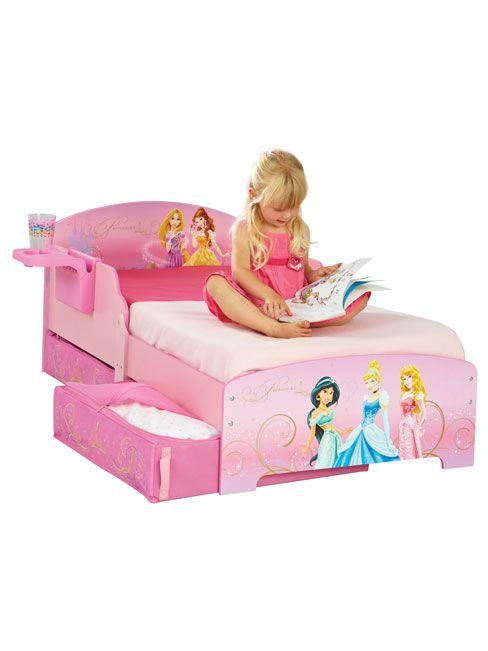 Disney Princess Toddler Bed Shelf Underbed Storage  Disney Princess  Ideal transition from a cot Toddler bed