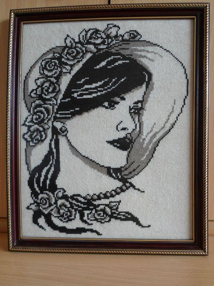 RIOLIS COUNTED CROSS STITCH - A LADY IN A HAT (16 x 13 inch), (41 x 33cm)