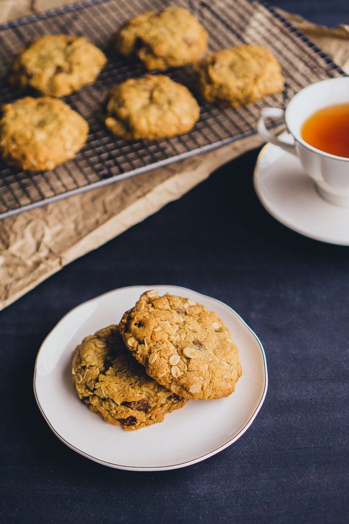 Chewy Oat Coconut and Sultana biscuits. A quick, simple and delicious treat. Great with tea!