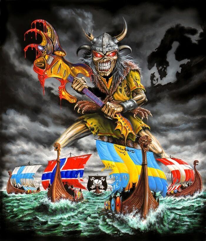 iron maiden artwork | Herve Monjeaud ArtWork/Iron Maiden/NORDIK 2011 FINAL PAINT
