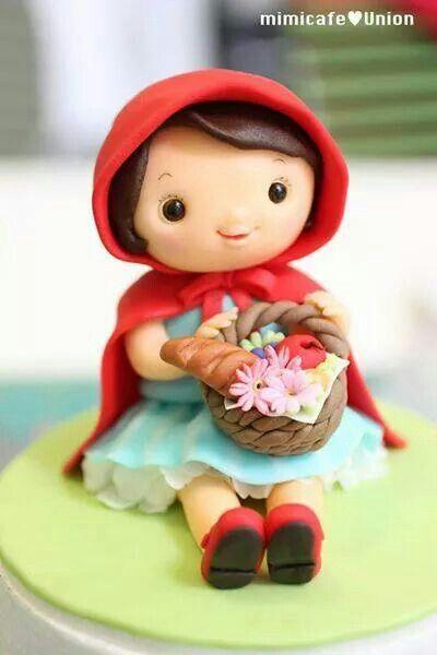 Little Red Riding Hood cake topper