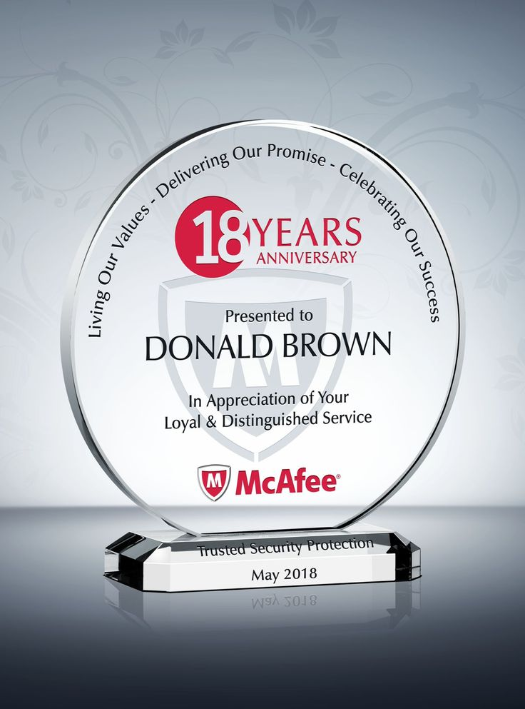 The Circle Years of Service Award Plaque is characterized by the refined flowing lines in the middle. This years of service award sample is designed to honor 5 years of service, but can be personalized for any length of service awards.