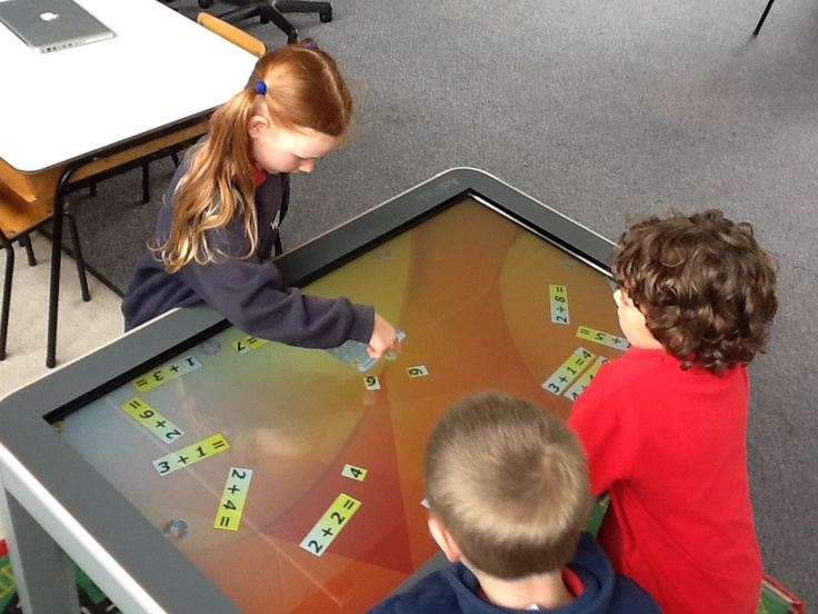 Students using the ActivTable won by Wairakei School's Corinna O'Neill.