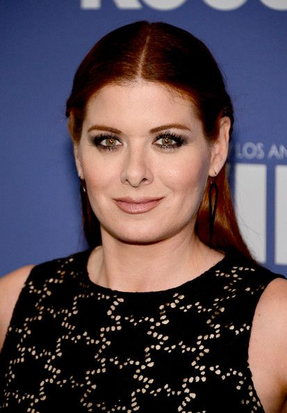 Debra Messing Half Up Half Down - Debra Messing chose a half updo for her look at the Lucy + Crystal Awards.