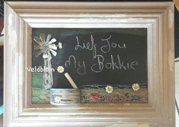 Kitchen rustic blackboard