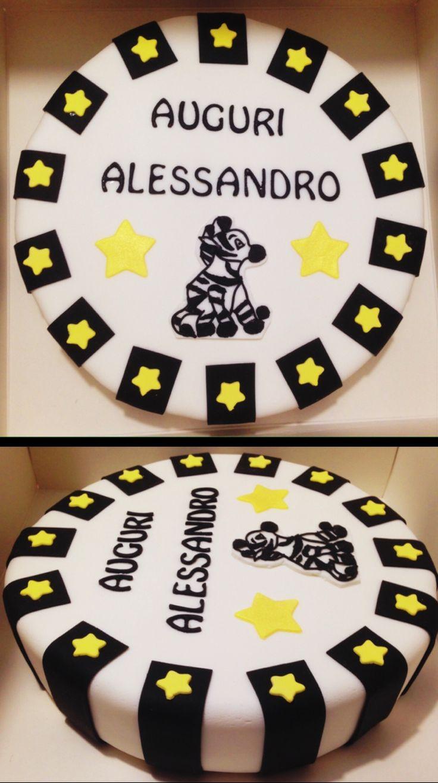 Juventus cake - black and white