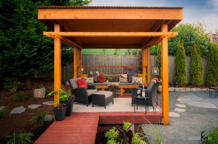 100 идей дизайна для садовой беседки: проекты дачных беседок на фото