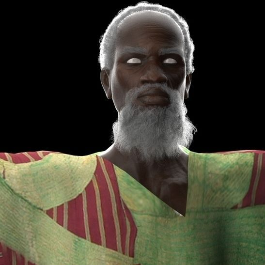 Work in progress of one of the pivotal characters of our upcoming project. No he is not Naija Moses.lol. far from it. #3d #3danimation #animation #madeinnaija #madeinnigeria #afroart