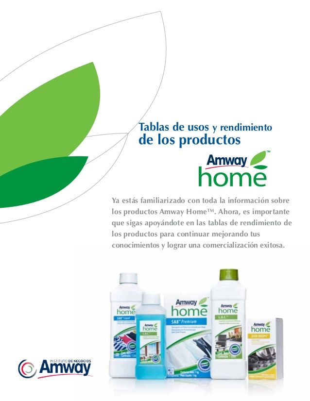 Tabla Usos Productos Amway Home Amway Amway Home Amway Business
