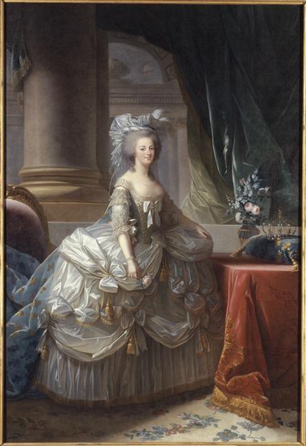Marie-Antoinette d'Autriche, reine de France (1755-1793), en robe à paniers vers 1785 - by Vigée-Le Brun Elisabeth Louise (1755-1842)