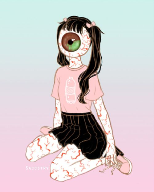 Stylish eyeball girl …