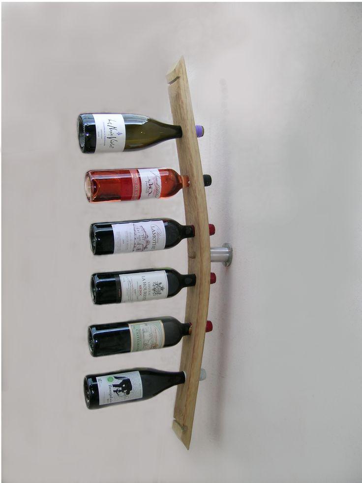 porte bouteille mural, accessoires du vin, range bouteille, rangement cave à vins, décoration cave à vins, support bouteilles,porte bouteille douelle,porte bouteille en bois,porte bouteille original,porte bouteille métal,aménagement cave à vin