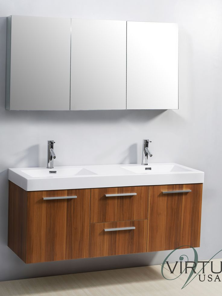 Pictures In Gallery  Midori Double Sink Bathroom Vanity Plum Wood An affordable and sleek option