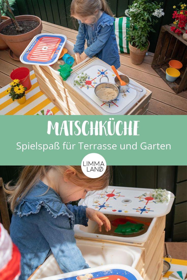 Die Matschküche ist ein super Spaß für alle Kinder im Sommer im Garten und auf der Terrasse. Wie ihr sie am schnellsten selber bauen könnt, ganz e…
