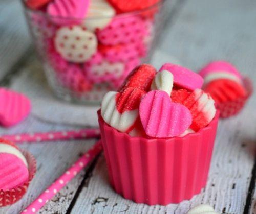 Valentin napi marcipán szívek