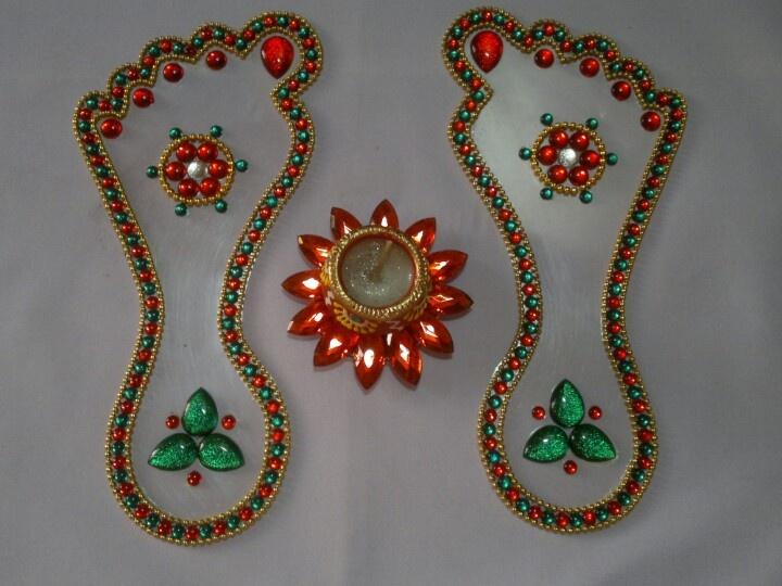 202 best images about pooja thali di ya thali mahendi for Home made rangoli designs