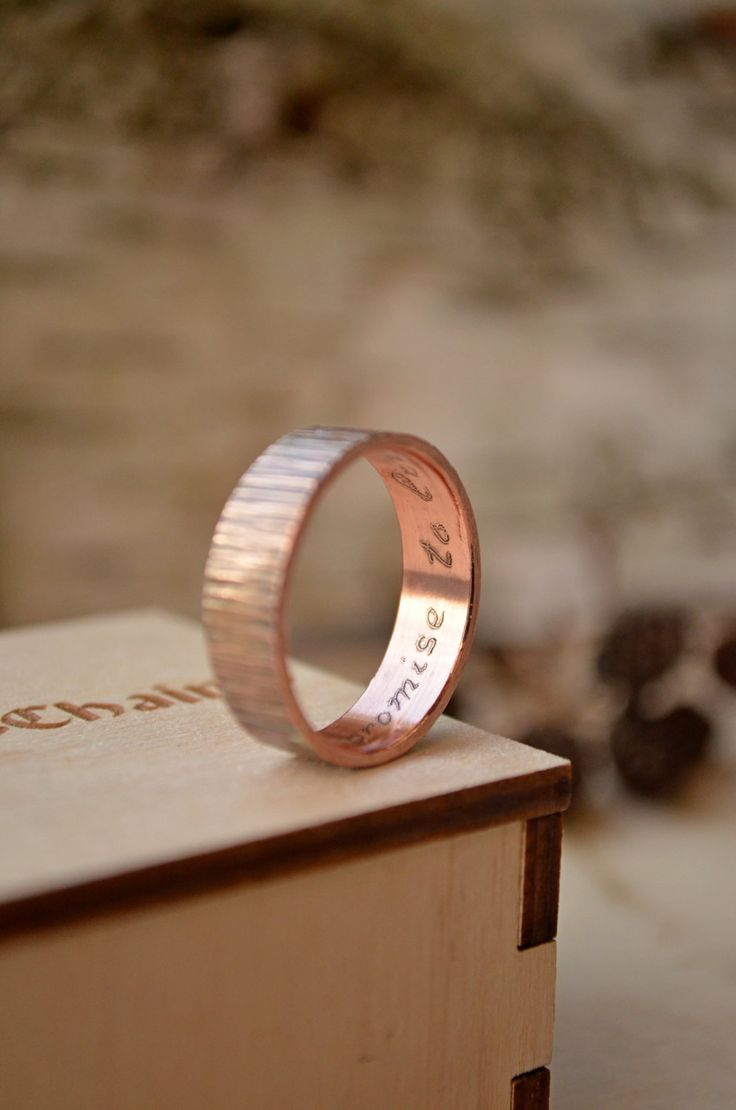 Copper Promise ring Copper anniversary gifts for men for him