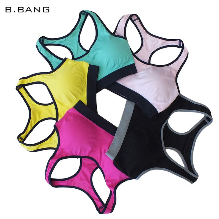 B.BANG Women Yoga Shirts Padded Sports Tops Athletic Vest Gym Fitness Bra for Woman Yoga Bra sujetadores deportivos M/L => Save up to 60% and Free Shipping => Order Now! #fashion #product #Bags #diy #homemade