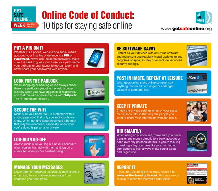 10 tips for staying safe online   Online safety ...