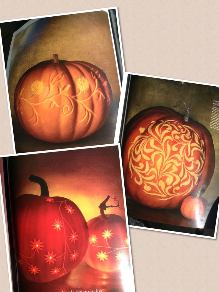 Carving pumpkins with a linoleum cutter so pretty
