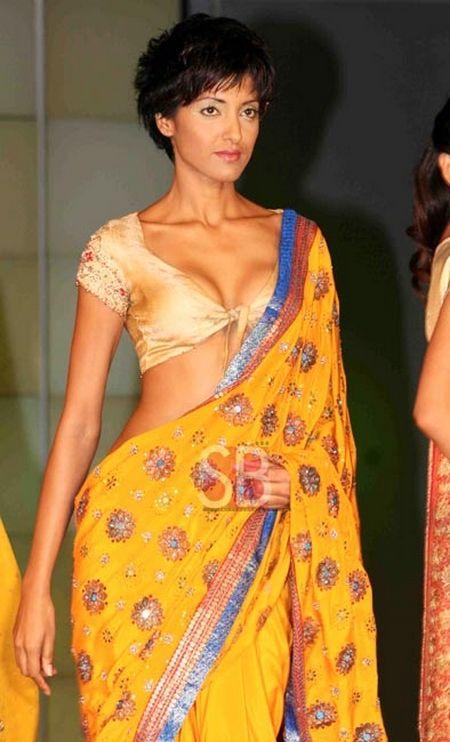 Bright Yellow Saree with short Chol… | Fashion India ...