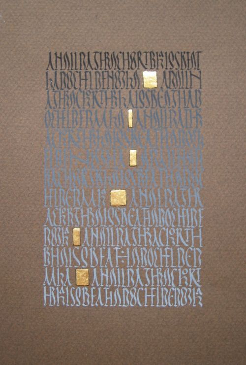 ALEC/ petit carrée comme des points dans les phrases, des separations  convocation en vieil irlandais