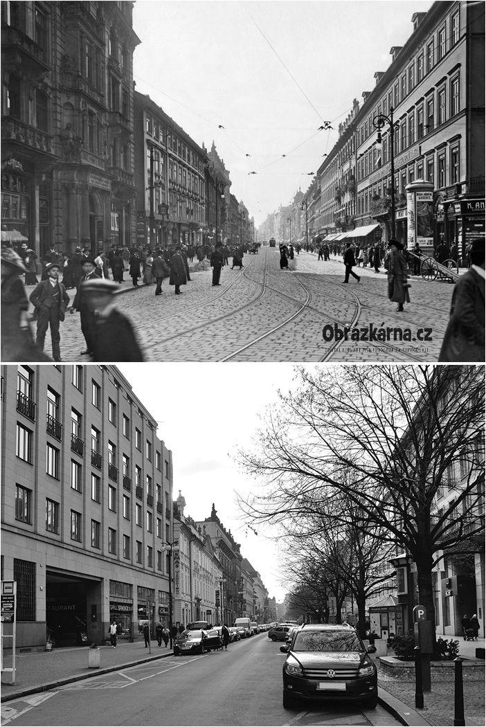 ulice Na Příkopě historická