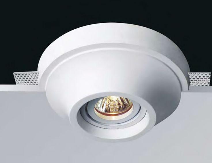 Lámpara de yeso para techos falsos #decoracion #iluminacion #interiorismo #lamparas