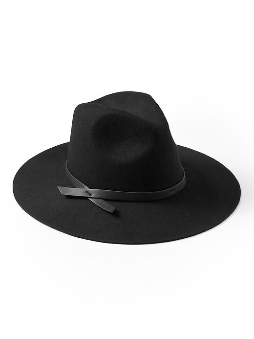 0ce7003d Fedora Felt Hat in 2019 | Shop the look products | Black wide brim ...