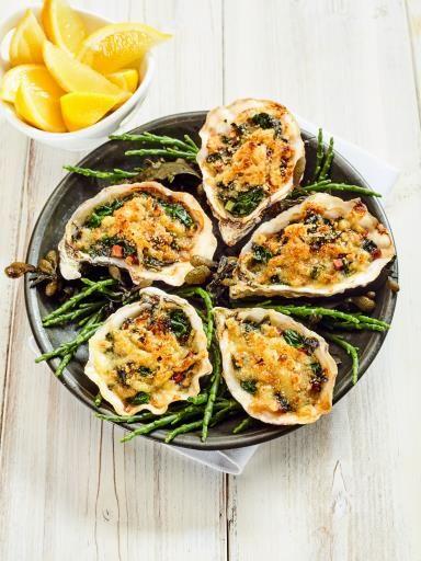Huîtres gratinées : Recette de Huîtres gratinées - Marmiton