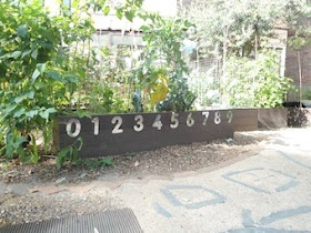 """Like the idea of a numberline on the raised bed ("""",)"""
