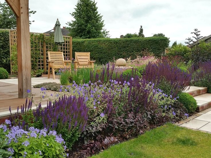 #gardendesign #staffordshire #cheshire #shropshire #gazebo #decking #paving #plants #boxballs #englishgarden #plantcombinations #plantingdesign #waterfeature